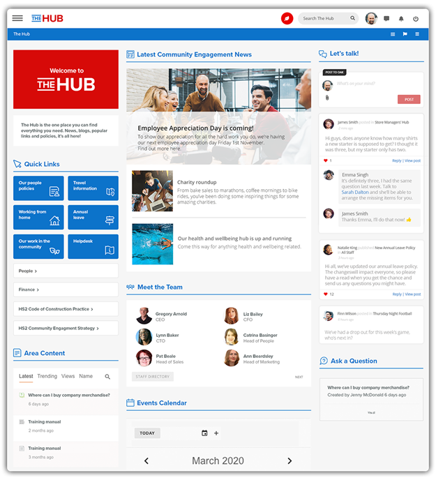 intranet software example