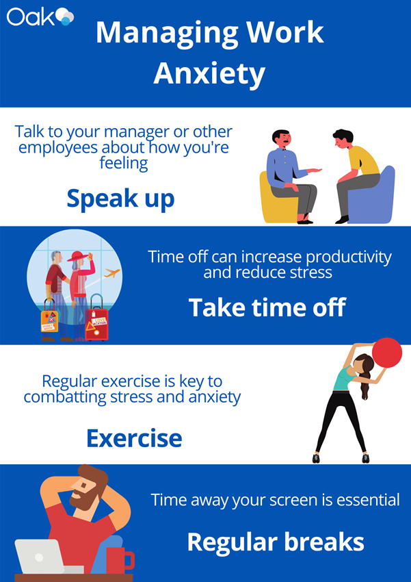 How to Manage Workplace Anxiety Visual Image by Oak Engage