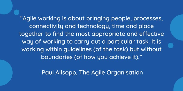 Agile working quote